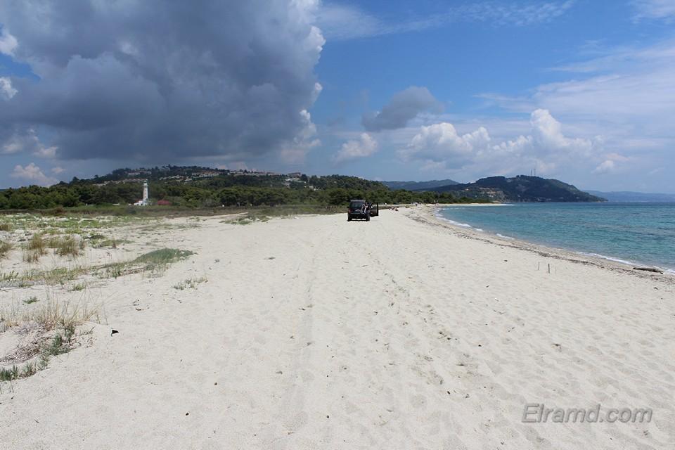 Мыс Поссиди пляж с юга