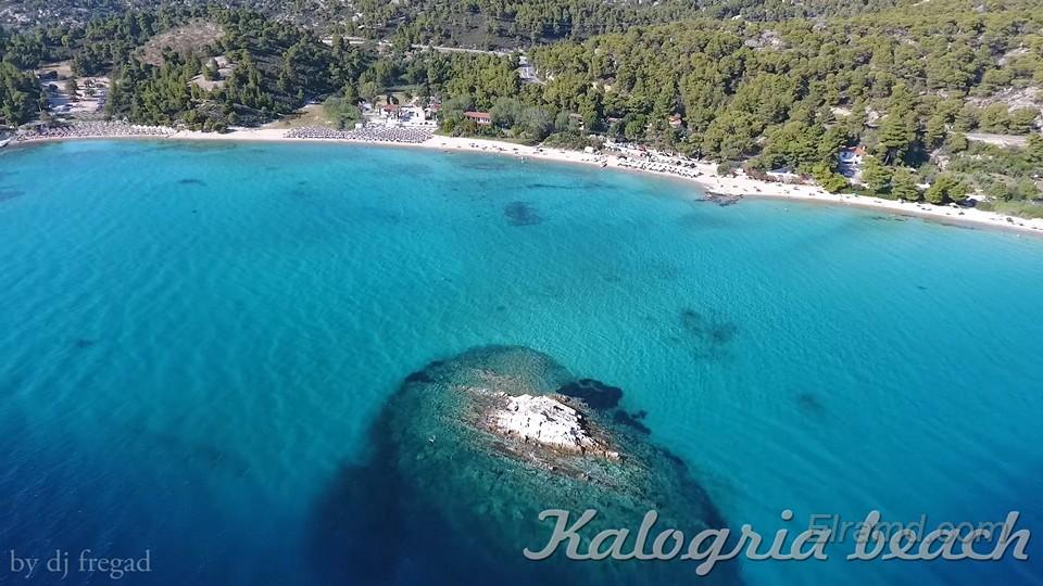 Пляж Калогрия Бич - вид сверху