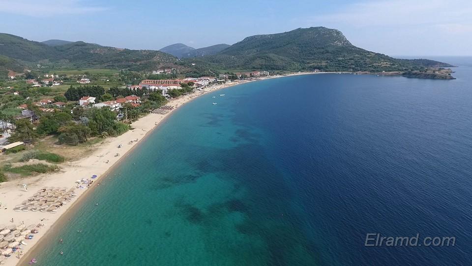 Пляж Торони и крепость Ликиф сверху