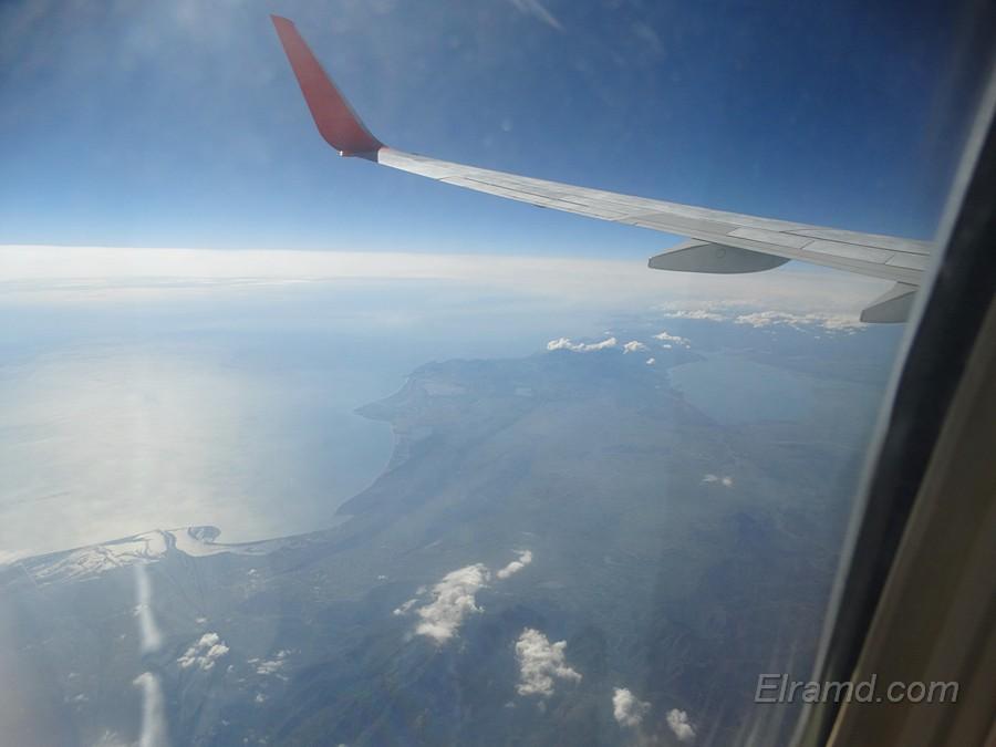 Вид из самолета на Ионическое море, о.Корфу