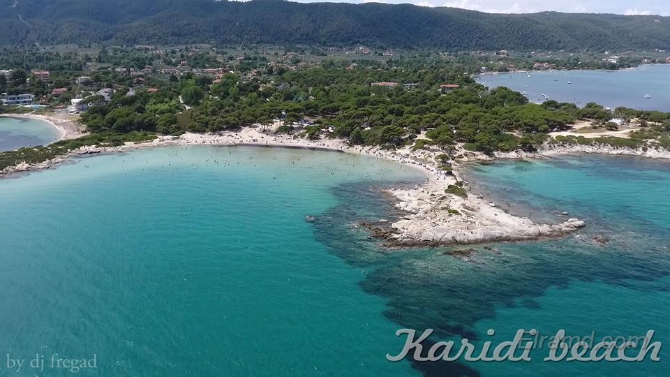 Пляж Кариди с воздуха