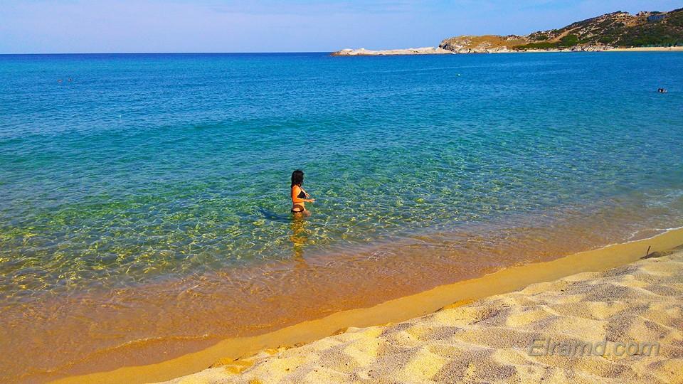 На пляже Криаритси