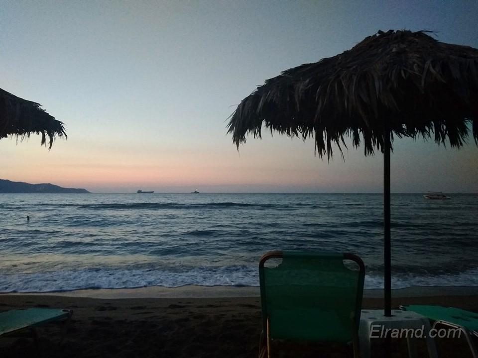 Вечерний пляж Амудары