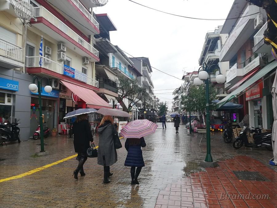 Пешеходная зона в Янница