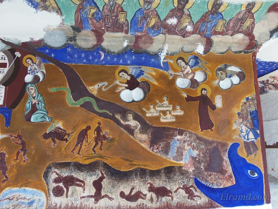 Правая часть фрески: похоже на ад