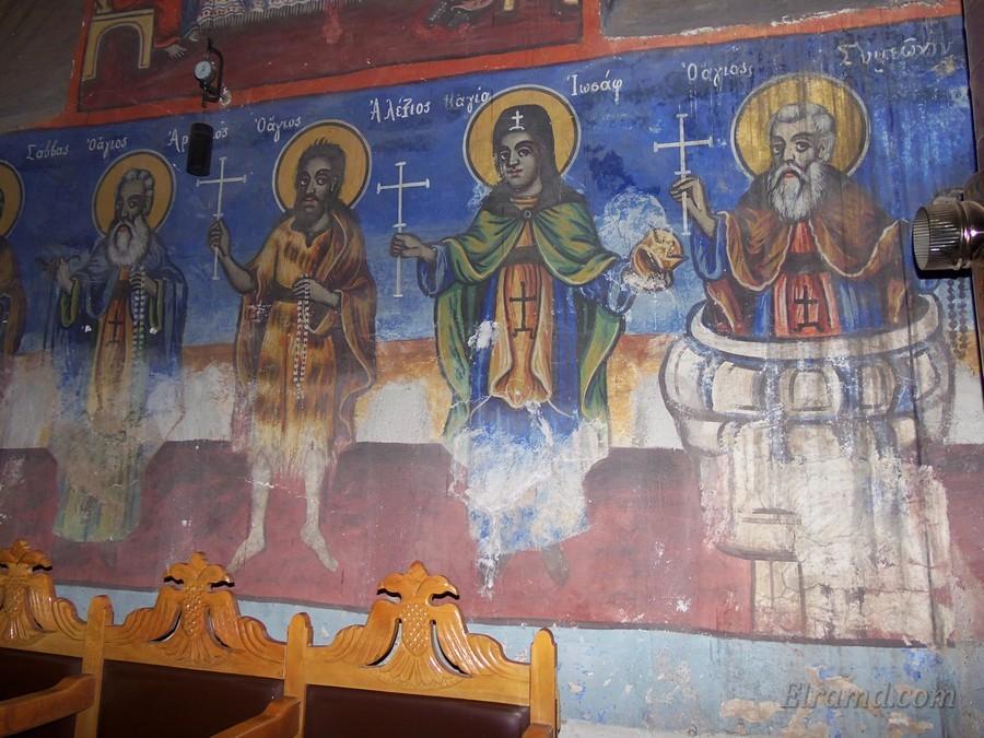 Ряд святых: Симеон, Иосаф, Алексиос, Арсениос, Саввас