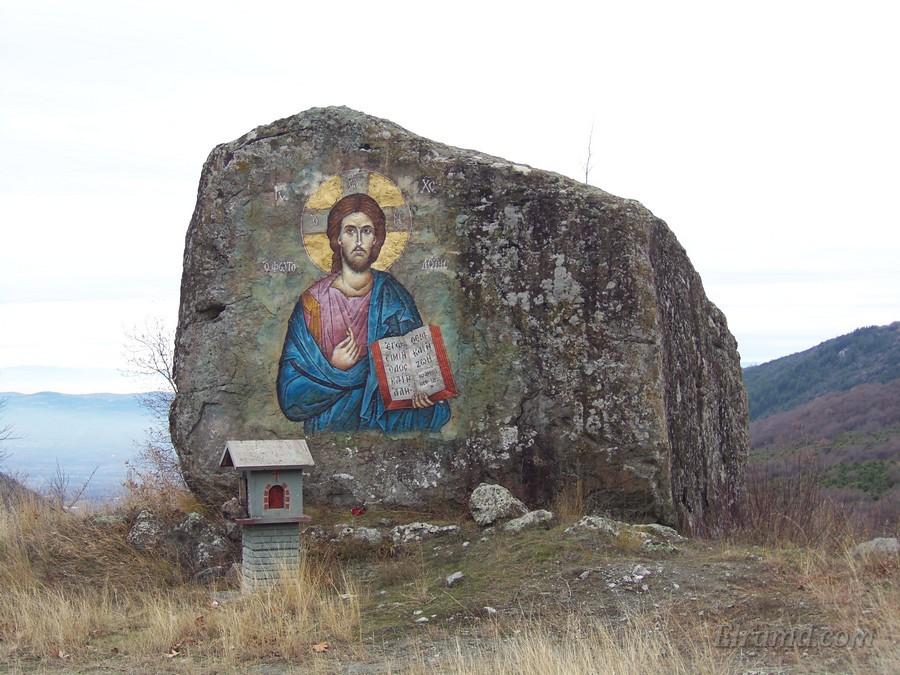 Икона Христа прямо на скале, Архангелос