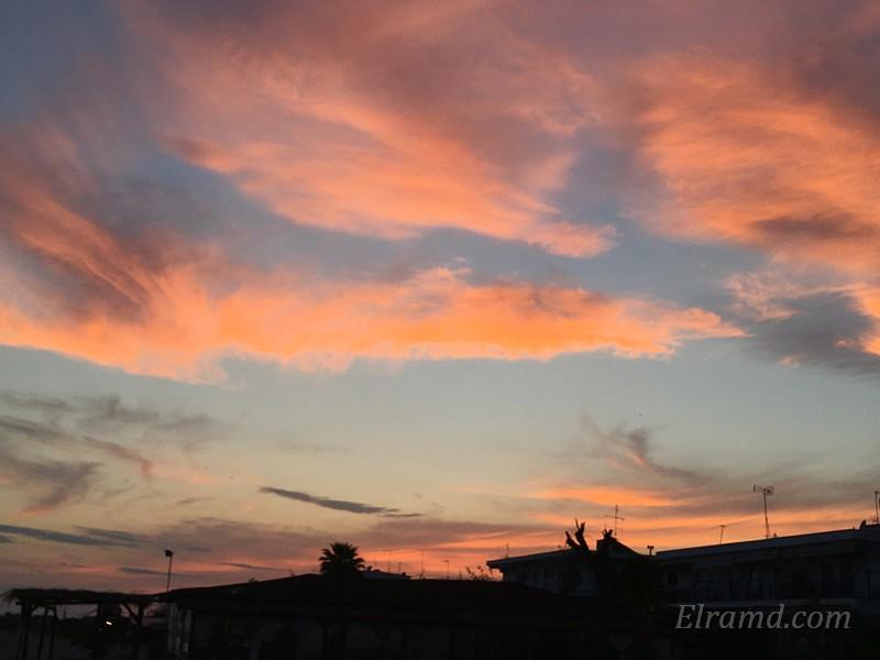 Закат в Паралии Дионисиу