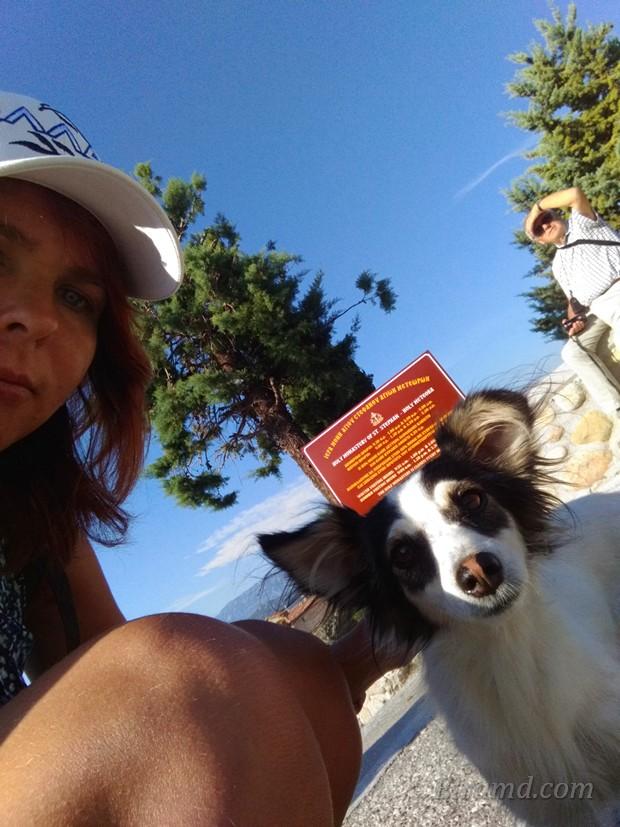 Селфи с метеорской собачкой
