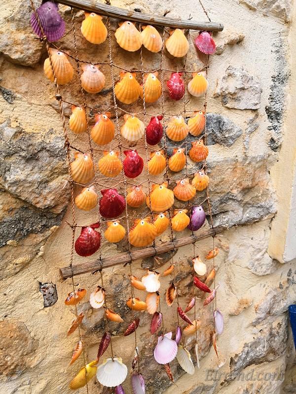 Ракушки на стене