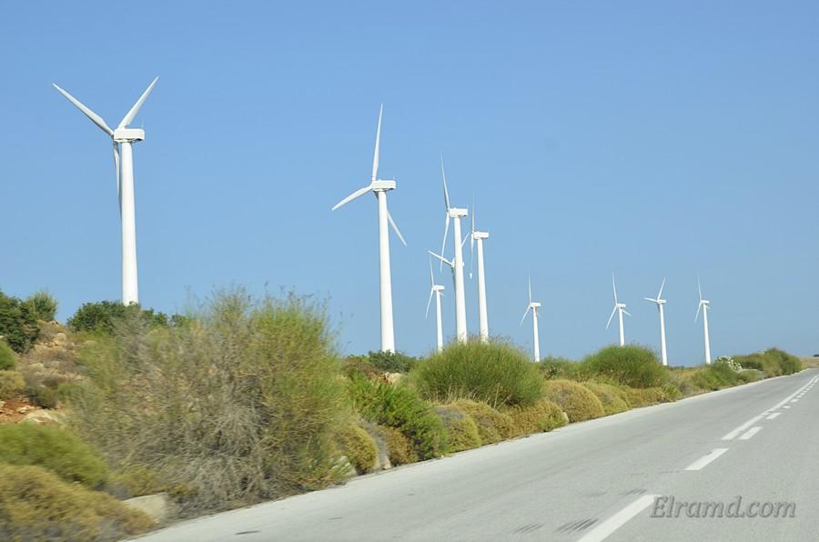 Ветряки близ Каристоса