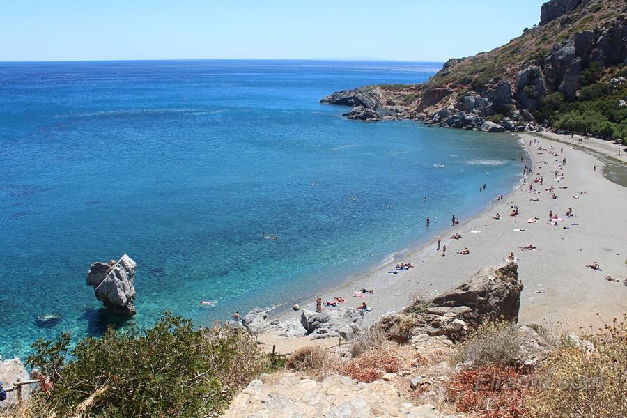 Пляж Превели на Крите
