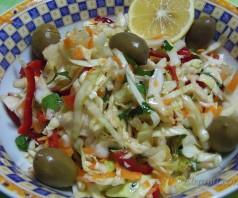 Как приготовить салат из свежей капусты — греческий рецепт